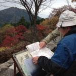 森林インストラクター瀬川さんと宮崎さんとルート確認