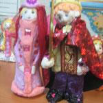 Рыцарь и Принцесса, тесто, ткань