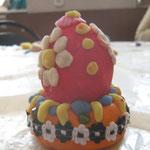 Пасхальное яйцо с подставкой, тесто