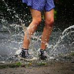 """2. Platz (Oberstufe): """"Wasserschlacht"""" von Marike"""