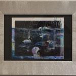『ふうふう』 82×106mm /ポラロイドフィルムにアクリル絵具/ Collaboration with Chloe Jafe