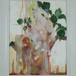 Growing / oil on plexiglass, oil and pastel on paper   620 * 498 mm / 2010