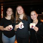 Unsere fleissigsten Turnerinnen 2019 (von l. n. r.): Silvana, Ramona und Chantal S.
