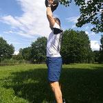Larbi Bouda beim Crossfit-Training