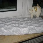 Katzen-Fensterbankkissen Hochfloor-Plüsch, silber,Preis: 20,00 €