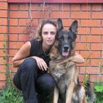 Хоббит с Леной Величенко, август 2008 г.