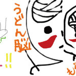 ちなちゅッさんの作品。頭のうどん、減ったらどうなるんや?ツル〜(^^)