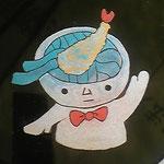 謎の動物園の園長さんが作ってくれた「まき絵」ツル!頭の出汁がこぼれてる!アチチチチ!!!