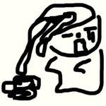 ゆるキャラ『カパルくん』(http://www.sbs.or.jp/kapal/kapal.htm)が描いてくれたツル!悪意ないよね?WW