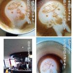 高松空港2階の「カフェ・ヴォーノ」で、カフェラテアートしてくれたツル!とっても可愛くて、飲むのがもったいないツル!