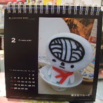 カメラのキタムラ、イオンモール高松店さんがカレンダーを作ってくれたツル!(※サンプルです)来年は、ツル年?