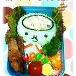 犬印弁当さん(http://blog.livedoor.jp/keikei3333/)がキャラ弁を作ってくれたツル!凄いツル!