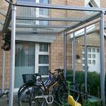 Vordach Metall Glas