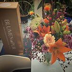 Karton und Bouquet