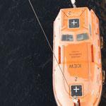 Live Test für die Rettungsboote