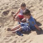 Sandkasten...