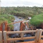 Die Brücke hinten sah erst nach der Befahrung von uns so aus... :-)