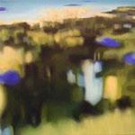 MIrada discreta VI, óleo sobre lienzo, 30x30 cms