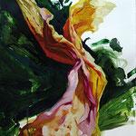 Sílabas,  2008, óleo sobre papel, 76,5x57 cm
