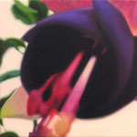 MIrada discreta XV, óleo sobre lienzo, 30x30 cms