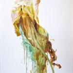 Materia deshechada,2009,  óleo sobre papel, 76,5x57 cm
