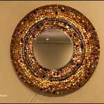 Spiegel mit Korkeinfassung
