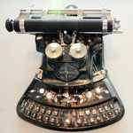 lachende Schreibmaschine