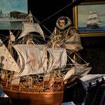 Columbus mit seinem Schiff