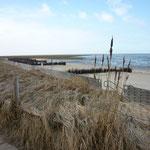 Blick vom Wehrbergsweg auf die Düne, dem FKK Strand in Duhnen Cuxhaven