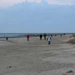 Der Strand von Cuxhaven im Oktober