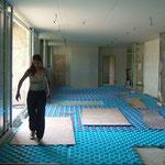 Le plancher chauffant de la maison d'hôte le blockhaus de domleger