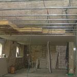 la stucture du plafond du rez de chaussé du blockhaus de domleger