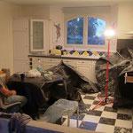 La cuisine des chambre d'hôtes le blockhaus en travaux