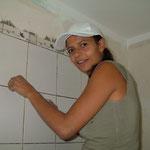 Faience dans une salle de bain des chambres d'hôtes