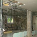 la stucture du plafond du rez de chaussé du blockhaus de domlege