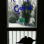 La neve fuori dalla Suite Dolomiti