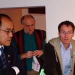 Pressekonferenz mit Olympiasieger Dieter Baumann und WangpoTethong, Präsident des Nationalen Olympischen Komitees Tibet