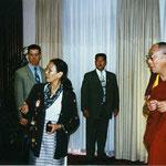 Der Empfang der Tibet Initiative Deutschland im Juni 1999 in Bonn