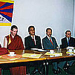 Pressekonferenz im Asienhaus, Essen, Mai 1995