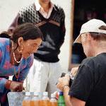 Kleiner Markt in Komic, dem Grenzort von Spiti und Lahaul