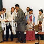 Feierlichkeiten zum 10. Geburtstag der Tibet Initiative Deutschland, im Juni 1999 in Bonn