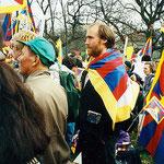 Europaweite Demonstration in Genf am 10. März 1997 im Gedenken an den Volksaufstand in Lhasa 1959