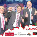 Selfie-Boxen mit den Bürgermeistern und Oberbürgermeister