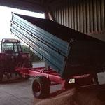 Getreidetransport zum Lagerort