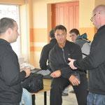 В холле перед соревнованиями с Дмитрием Яковиной