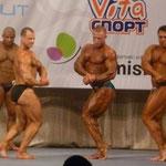 Сравнение категории св.90 кг. Герман-Баринов-Филиппычев. Бицепс сбоку