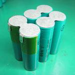 制作中のニッケル水素電池組品(トプコン) BT-50Q