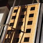 Detalle fachada paneles tendederos