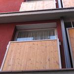 Detalle fachada: antepecho terrazas
