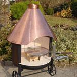 Mobiles Garten Cheminée mit Kamin aus Kupfer 80x185cm Nr. 10'000
